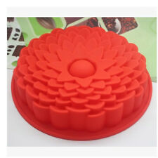 1PC Random Color BIG Silicone Sun Flower Baking Cake Pan Mold Mould Bakeware New