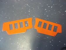 Polaris RZR / XP1000 / XP1K 8 Hole Switch Panels Orange (Titanium)