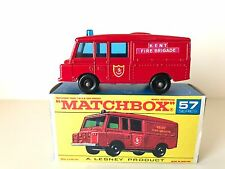 LESNEY LAND ROVER FIRE TRUCK - No. 57 - C - 1966 - 70 VINTAGE - MINT in ORIG BOX