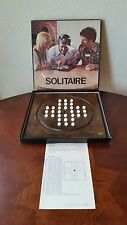 Vintage 1974 Reiss Solitaire a  Marble Challenge Game with Wood Board #272-700