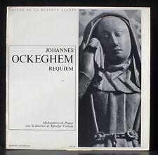 Ockeghem Requiem Venhoda LP NM, CV VG++.