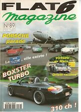 FLAT 6 89 PORSCHE 993 CHIPEAUX VARIORAM 340CH BOXSTER GEMBALLA TURBO 310CH 24H