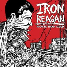 Iron Reagan Worse Than Dead GREEN VINYL LP Record municipal waste/supression NEW