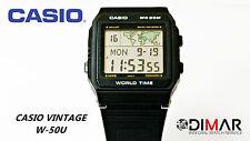 VINTAGE CASIO W-50U  QW.643 WORLD TIME WR.50 AÑO 1986