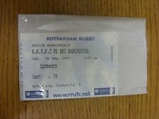 20/09/2003 Ticket: Rugby Union, Rotherham v Harlequins  . Thanks for viewing our