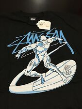 Stussy x Marvel Comics Doom Silver Surfer Medium T-Shirt Lot Wolverine Spiderman