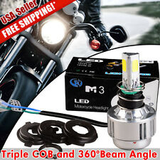 1X NEW H4 HB2 9003 White 2600LM Hi/Lo Beam LED Motorcycle Headlight Lamp 12V 24V