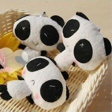 Cute Plush Baby Panda cross stitched eye Mobile Cell Phone strap charm keyring