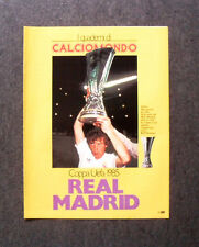 AS64 - Clipping-Ritaglio - 1985 - COPPA UEFA 1985 , REAL MADRID , POSTER REAL M.