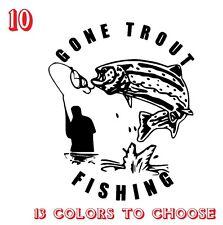 Trout Fishing Vinyl Stickers decals,car,window,van, Laptop (REF NO 10)