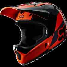 CASCO MTB DOWNHILL DH FOX FIBRA RAMPAGE MAKO ORANGE TG. S