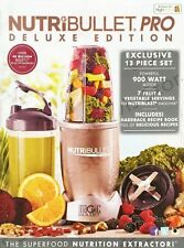Nutribullet Pro Deluxe Edition 900W 12 Piece Set Blender/Extractor/Juicer