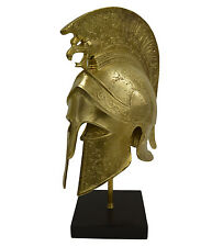 Greek Spartan Corinthian Bronze Helmet With Griffin -Battle Scared-Antique Style