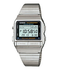 Casio DB380-1 Men's Vintage Metal Band 30 Memory Data Bank Watch