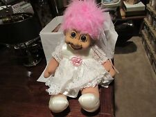 """Troll , Bride and Groom Dolls , 24"""" X 16"""" , Old / New Inventory , Vintage , Russ"""