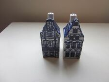 Delfts Blue House Salt and Pepper Set Hand painted