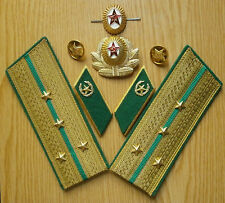 Soviet russian smart epaulets of captain of Border troops,cockardes, buttonholes