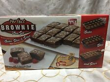"""AS SEEN ON TV """"PERFECT BROWNIE"""" PAN SET (BAKES 18) - BRAND NEW IN BOX"""