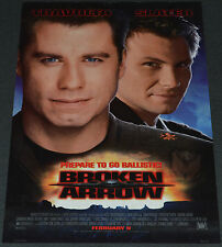 John Woo's BROKEN ARROW 1996 ORIGINAL 13x20 MOVIE POSTER! JOHN TRAVOLTA ACTION!