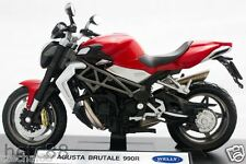 New Die Cast Motorcycle Welly Red MV Agusta Brutale 990R 1/18 Collection Gift
