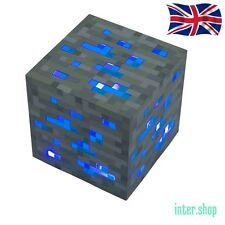 Minecraft diamond ore light up night light blue light-up toy