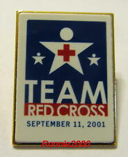 TEAM RED CROSS  9-11-01  Red Cross lapel pin  REDUCED!!