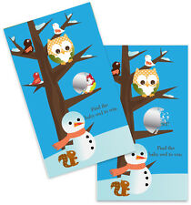 Owl - Winter Theme or Christmas - Baby Shower Scratch Off Game Pack