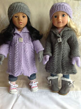 "Dolls Fashion clothes knitting  pattern. 18"" doll. Will fit Gotz, American Girl."