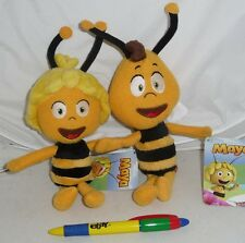 COPPIA 2 Peluche 20cm APE MAIA e WILLY Originali Ufficiali MAYA Maja Bee PLUSH
