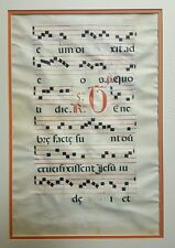 large illuminated manuscript 1613 catholic music song monks gregorian chant