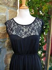 superbe robe féminine noire haut dentelle grande taille 50/52 52/54 glamour!!