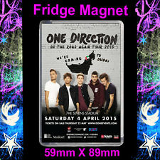 1D ONE DIRECTION TOUR POSTER Dubai, FRIDGE MAGNET LARGE 59MM X 89MM #CD