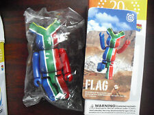 "Medicom Series 20 Bearbrick Flag South Africa Figure in Box 2 3/4"" Tall"