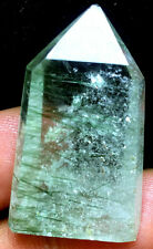 13g Green hair Lemurian Seed Quartz Crystal Point Specimen&GREEN Tourmaline