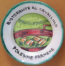 Piatto Buon Ricordo - Polesine Parmense - Cavallino - Anguilla - Scritta errata