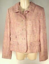 ANNE TAYLOR LOFT Classic Jacket Blazer Coat Womens Pink Tweed NWT SIZE 10