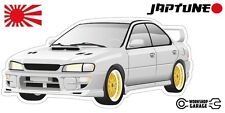 Subaru WRX Impreza  V1 - White with Gold Simmon Rims - JDM - JapTune Brand