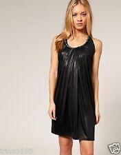 Full Circle Women`s Ladies Party Black Dress Zip Detail Size 14
