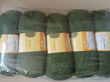 ELDORADO HOME Double Knitting yarn 5 x100g, 1kg khaki green wool /acrylic blend