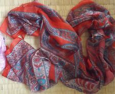 Indian fashion 100% floaty long silk ethnic scarf