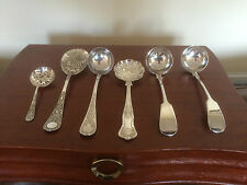 LOVELY SELECTION OF 6 VICTORIAN SILVER PLATED ITEMS (INCL LADLES ETC)