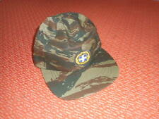 GREEK ARMY:GREEK  SOLDIER JOCKEY HAT/CAP-INSIGNIA -RARE LIZARD CAMO