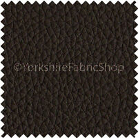 Recycled Eco Genuine Leather Hide Premium Car Seat Upholstery Grain Effect Brown