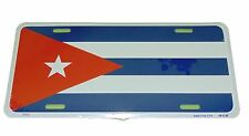 CUBA NATIONAL FLAG LICENSE PLATE 6 X 12 INCHES NEW ALUMINUM MADE IN USA