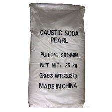 CAUSTIC SODA | 25KG Bag | Drain Cleaner, Soap Making, Cleaner | (99%) 'Pearl'