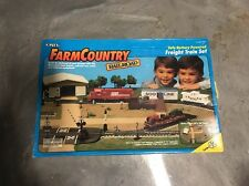 "Vintage ERTL 1:64 Scale FarmCountry RAILROAD  ""Freight Train  Set ""NIB!"