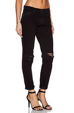$227 NWT 904 J BRAND 27 Jake Gothic Black Slim Boyfriend Destroyed Denim Jeans