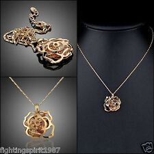 ToP 18K Gold Anhänger Halskette Swarovski Element Kristall Original Design /015