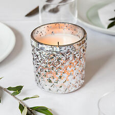 Crackled Diamond Glass Battery Operated Flickering LED Wedding Votive Candle