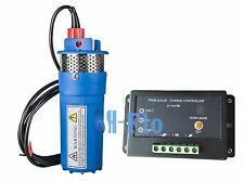 15A Controller + DC12V Solar Submersibel Water Pump For Farm & Ranch 230FT+ Lift
